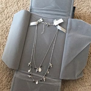 Jewelry - Sterling Silver Cross Crucifix Necklace Layered